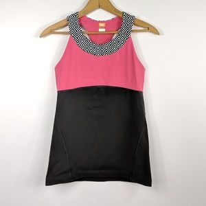 Lucy geometric color block athletic tank
